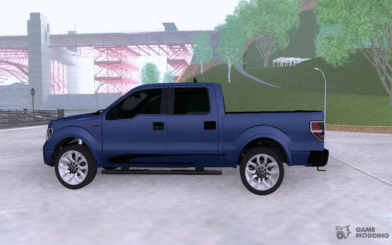 Ford f 150 harley davidson for gta san andreas rear left view