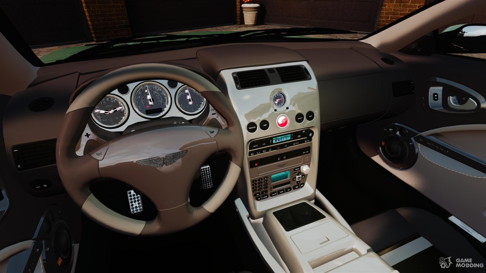Aston martin vanquish 2001 for gta 4 inside view