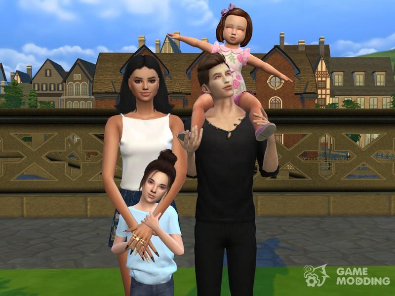 Family Photo Posepack For Sims 4