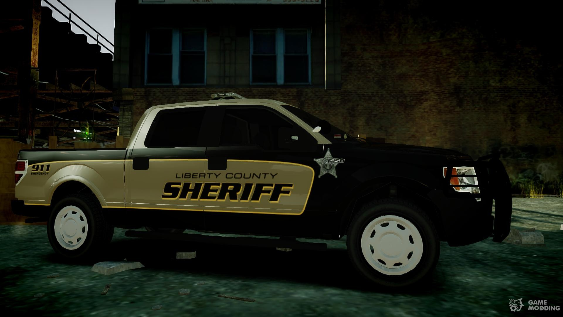 Ford f150 2010 liberty county sheriff for gta 4 right view