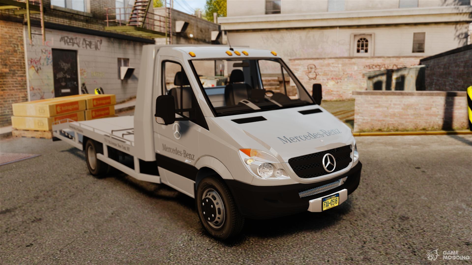 mercedes benz sprinter 3500 car transporter for gta 4. Black Bedroom Furniture Sets. Home Design Ideas