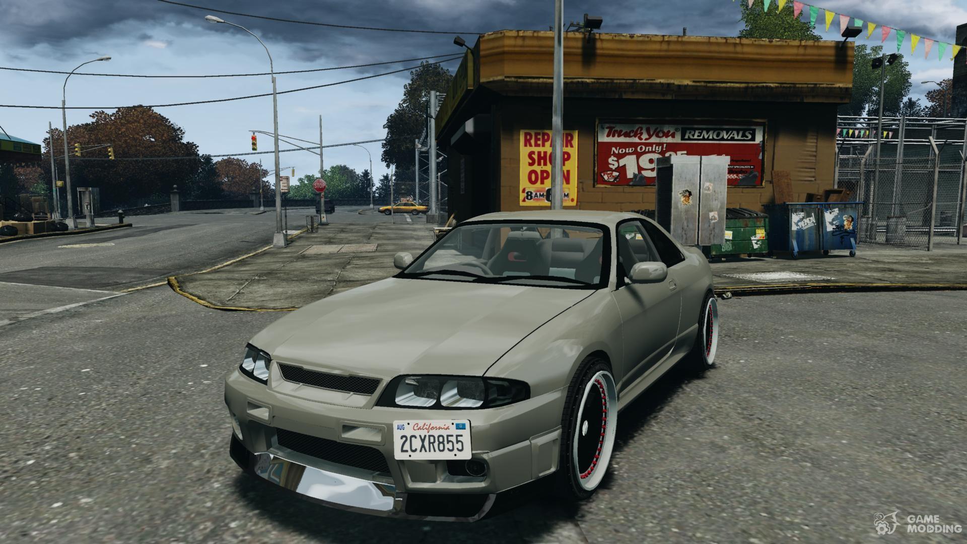 Nissan skyline gt r v spec 1997 for gta 4