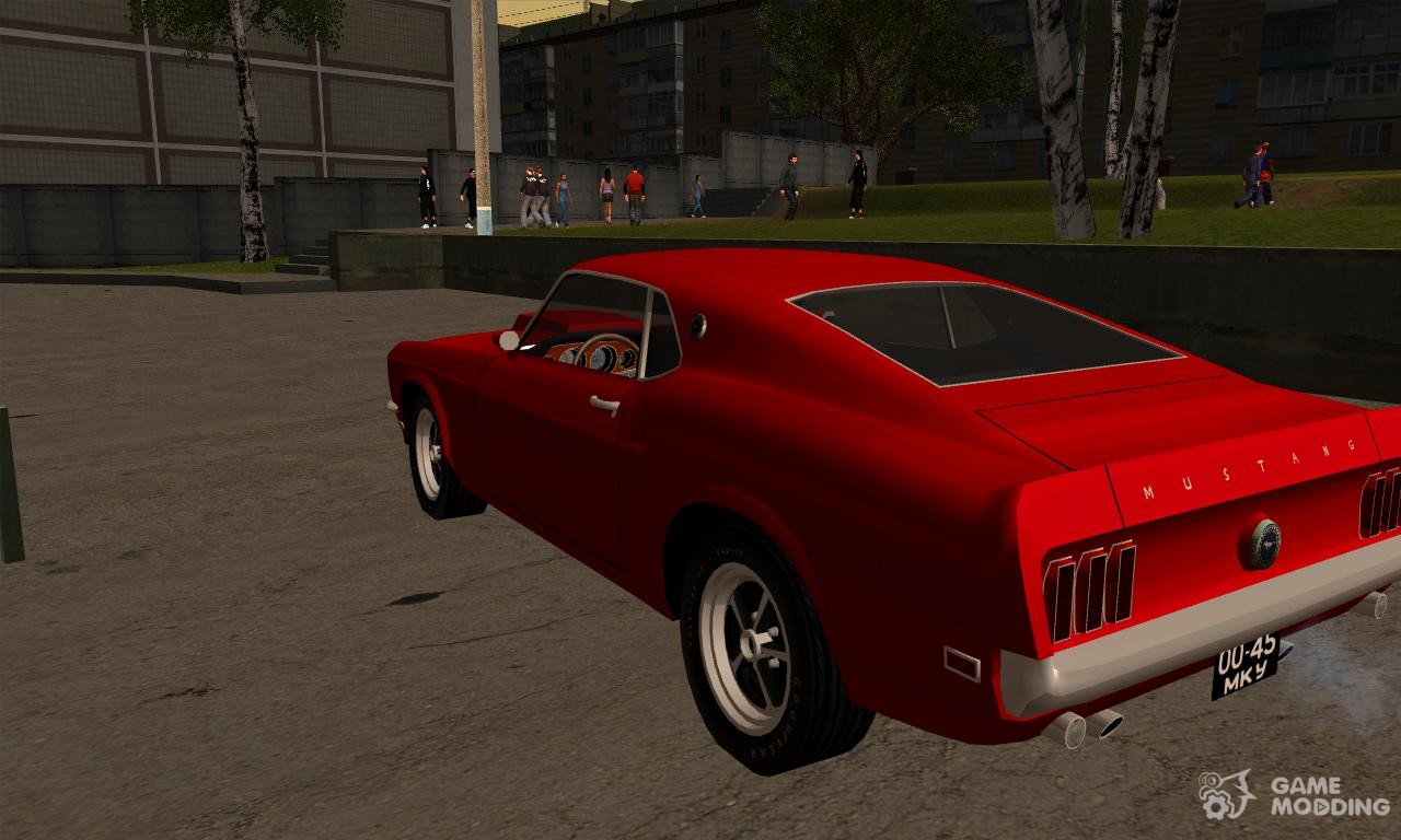 ford mustang boss 429 import version usa to ussr for gta san andreas. Black Bedroom Furniture Sets. Home Design Ideas