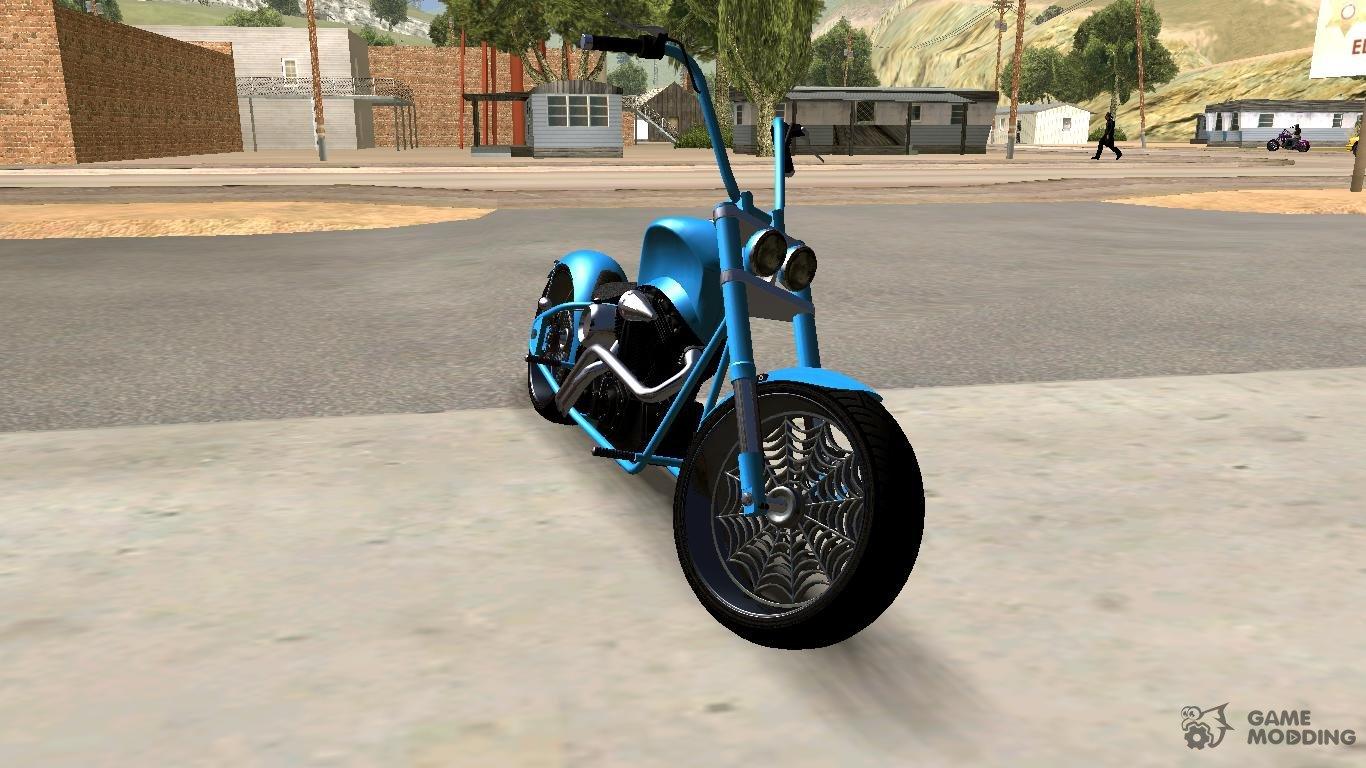 Gta V Western Motorcycle Zombie Chopper V2 For Gta San Andreas