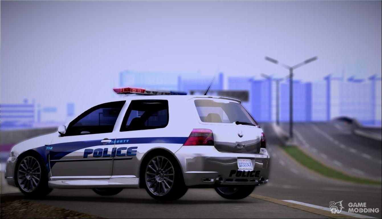 2003 volkswagen golf mk4 r32 liberty city police custom. Black Bedroom Furniture Sets. Home Design Ideas