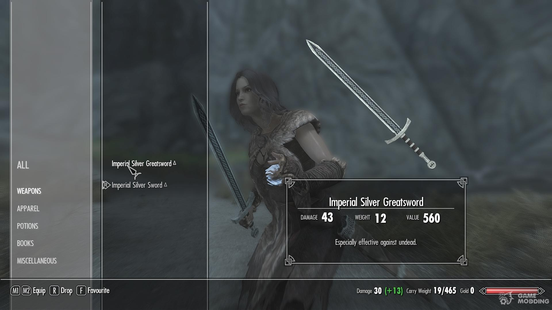 how to get silver sword in skyrim
