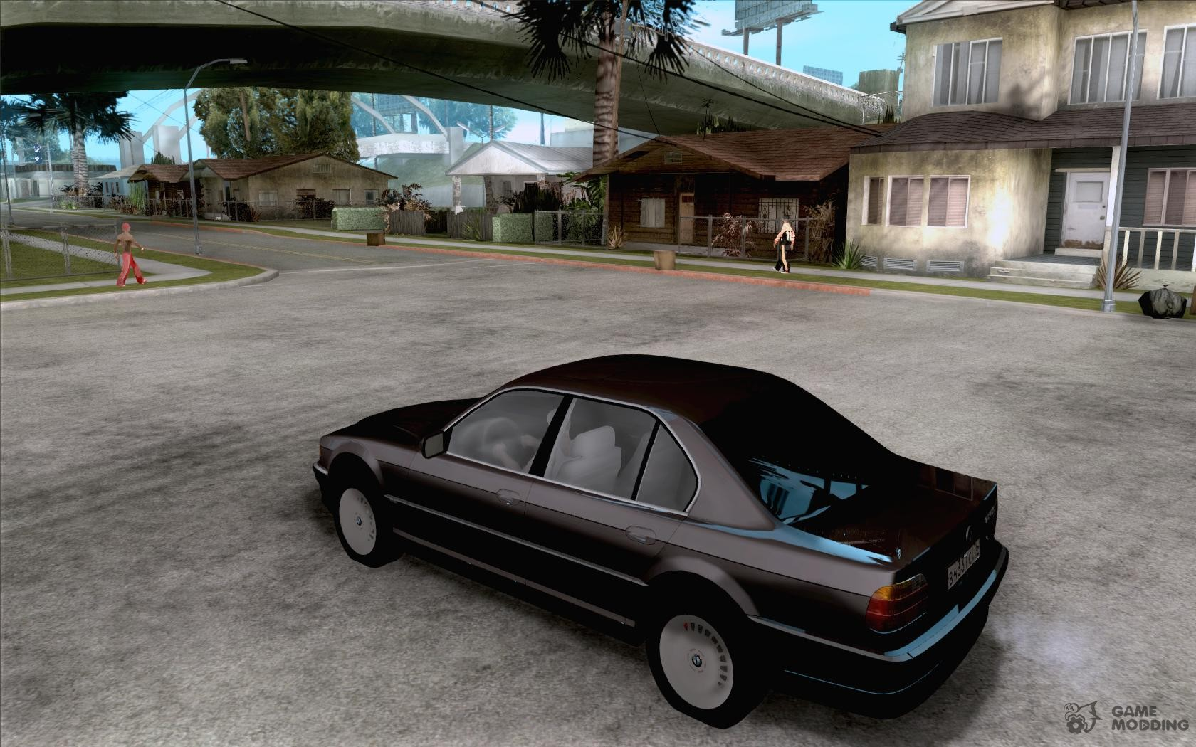 BMW 750i E38 2001 For GTA San Andreas Rear Left View