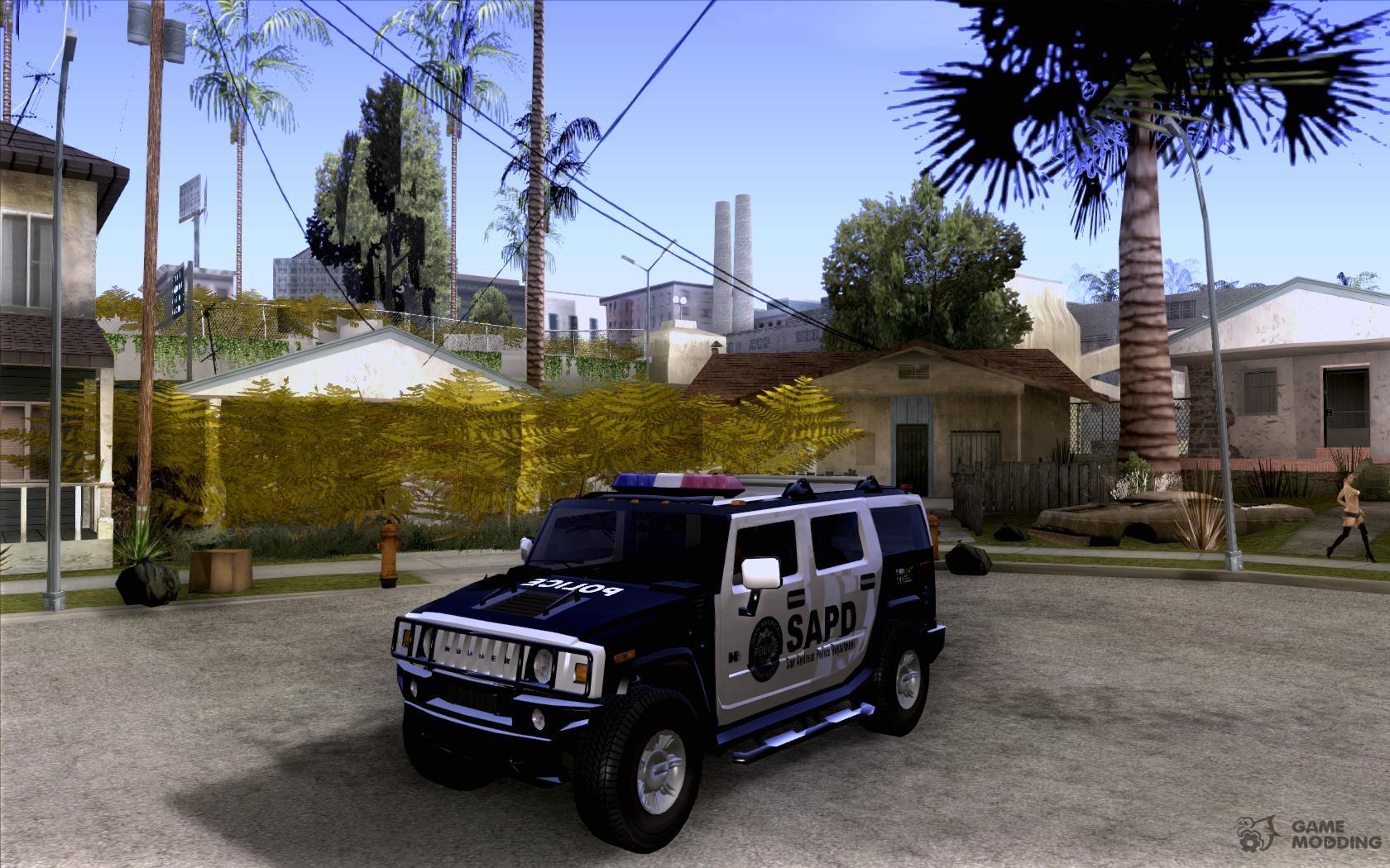 AMG HUMMER H12 SUV SAPD Police for GTA San Andreas | amg hummer