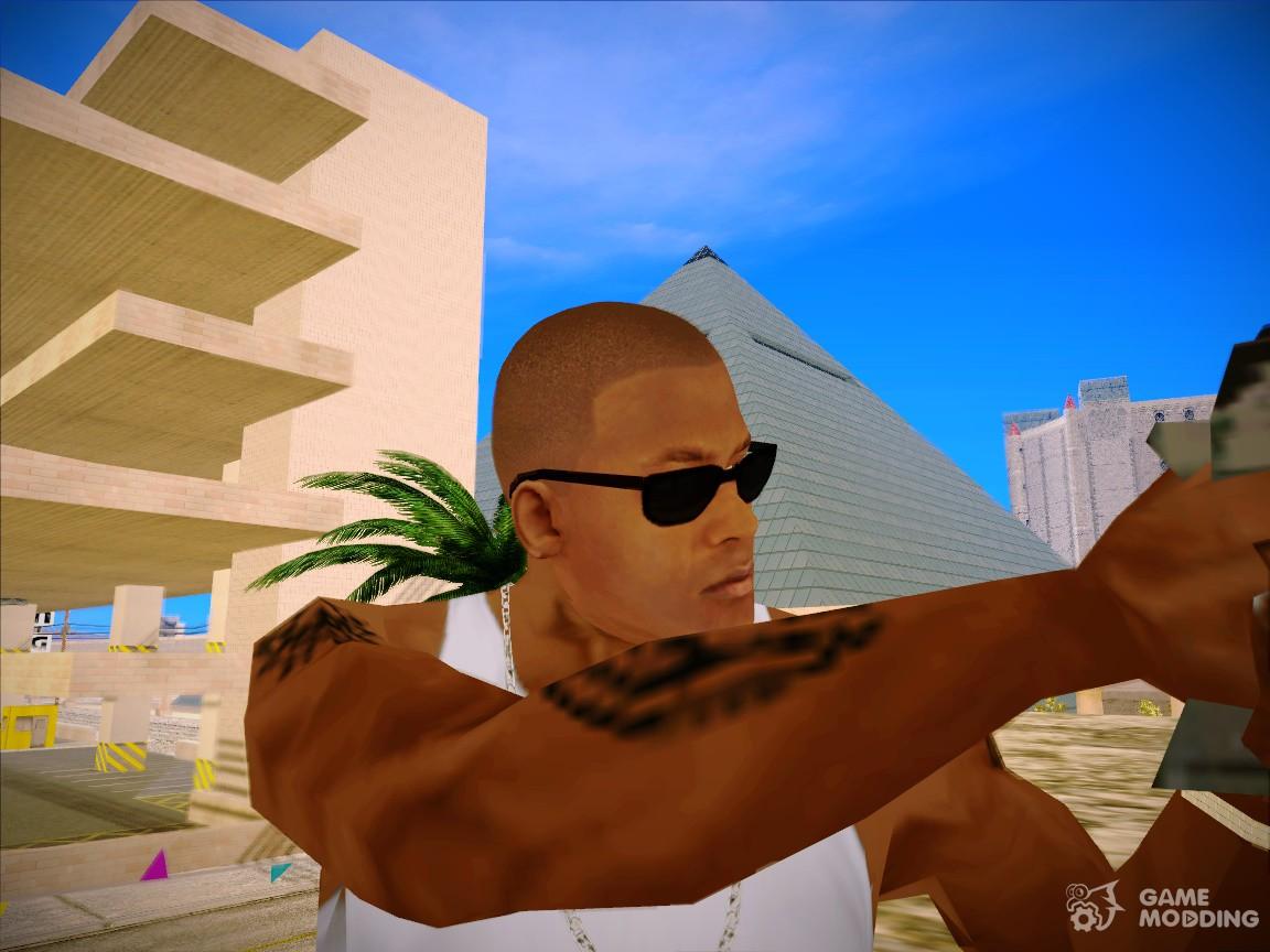 Franklin Head GTA V For GTA San Andreas - Bald hairstyle gta 5