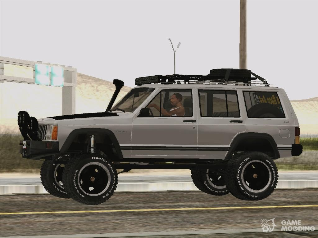 1998 jeep cherokee off road 4 x 4 for gta san andreas. Black Bedroom Furniture Sets. Home Design Ideas