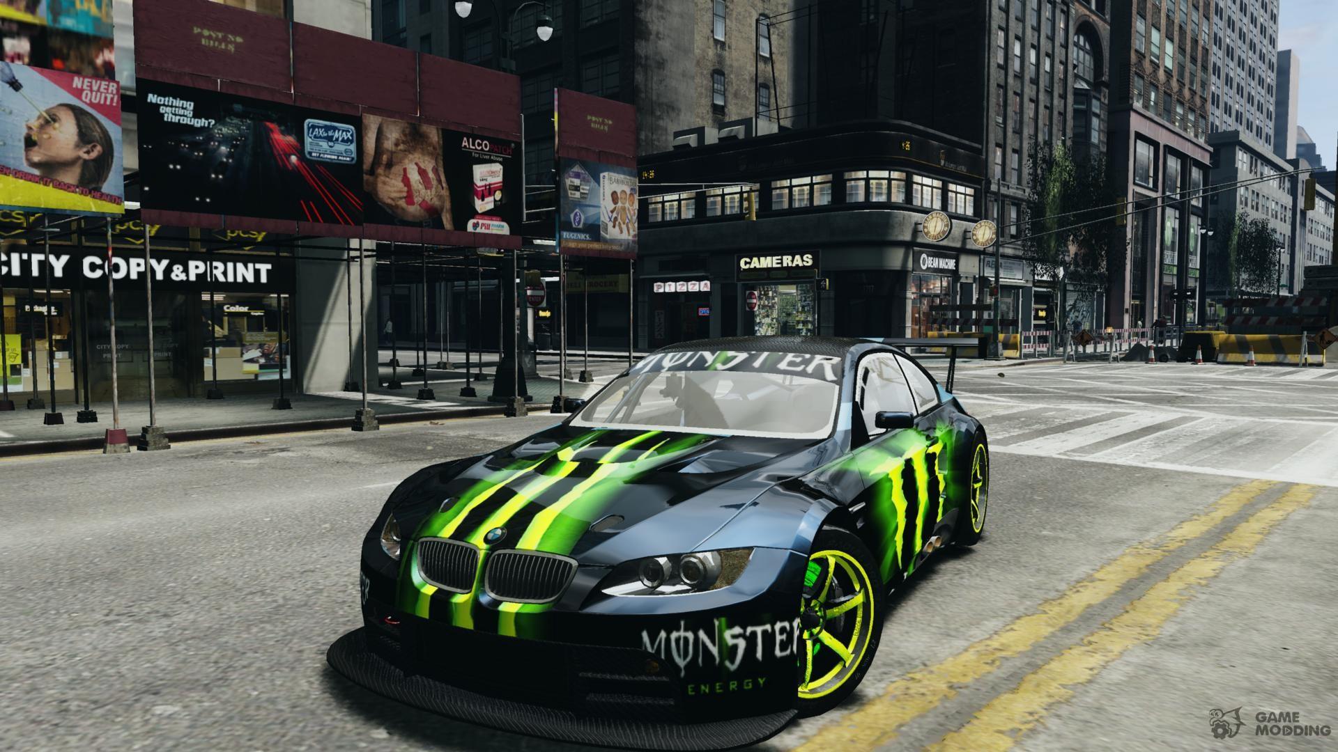 Delightful BMW M3 Monster Energy For GTA 4