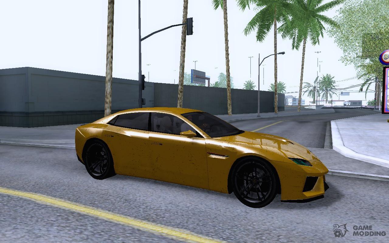 Lamborghini Estoque Concept 2008 For GTA San Andreas Inside View