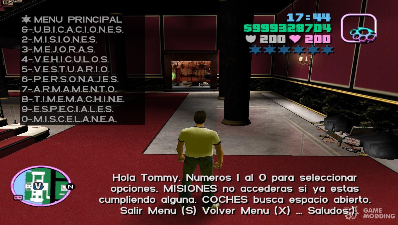 Mega Menu 1.0 for GTA Vice City
