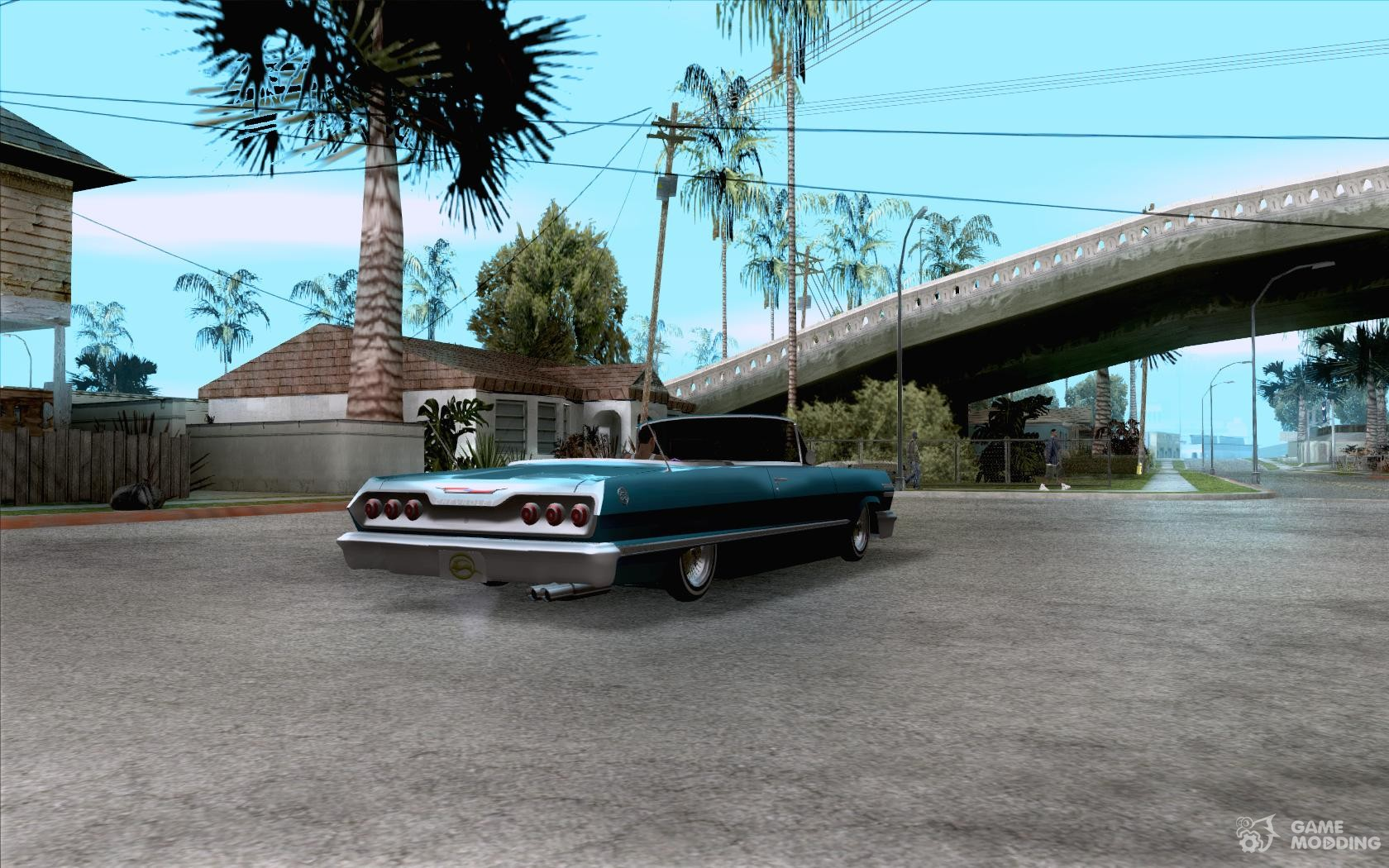 Chevrolet impala 4 door hardtop 1963 for gta san andreas - Chevrolet Impala Hardtop 1963 For Gta San Andreas Top View