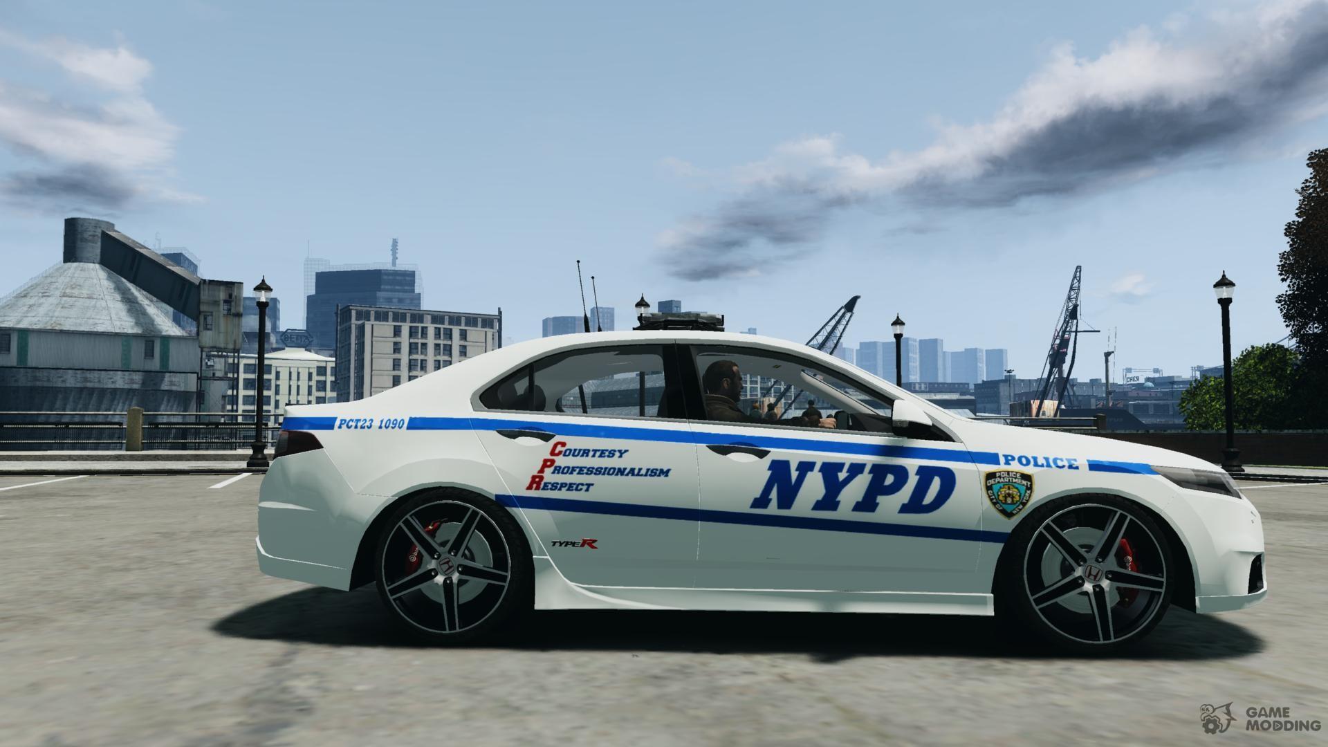 honda accord type r nypd city patrol 1090 for gta 4. Black Bedroom Furniture Sets. Home Design Ideas