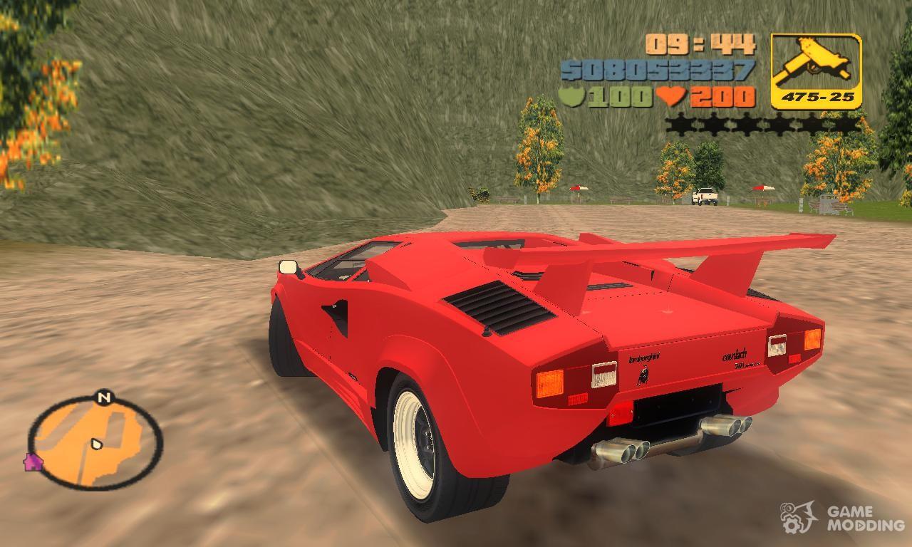 Lamborghini Countach Lp5000 Qv Tt Custom For Gta 3