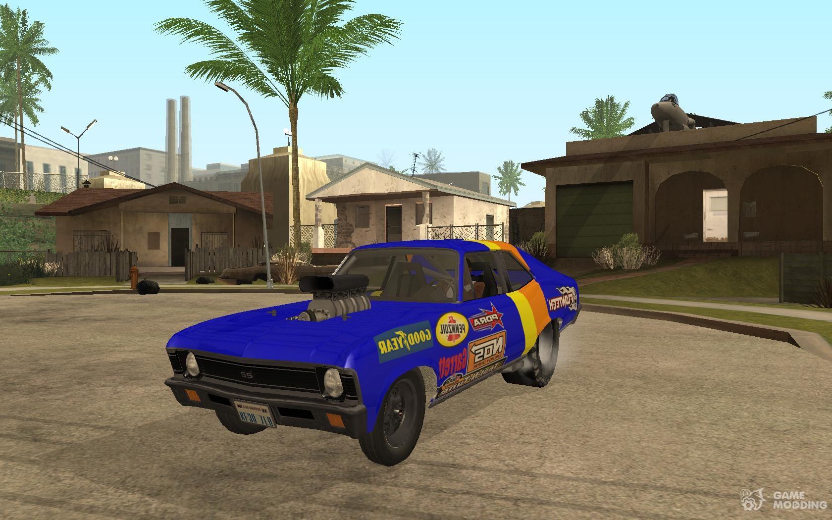 Chevy Nova NOS DRAG Beta para GTA San Andreas