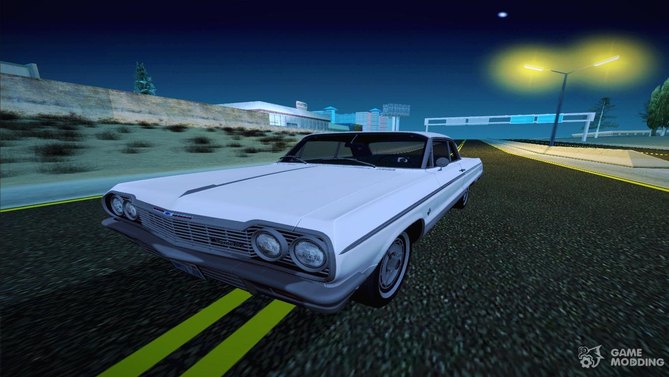 Chevrolet impala 4 door hardtop 1963 for gta san andreas - Chevrolet Impala Ss 1964 Low Rider For Gta San Andreas