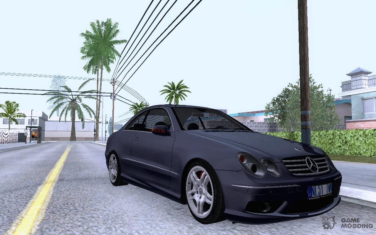 mercedes benz clk55 amg 2003 for gta san andreas. Black Bedroom Furniture Sets. Home Design Ideas