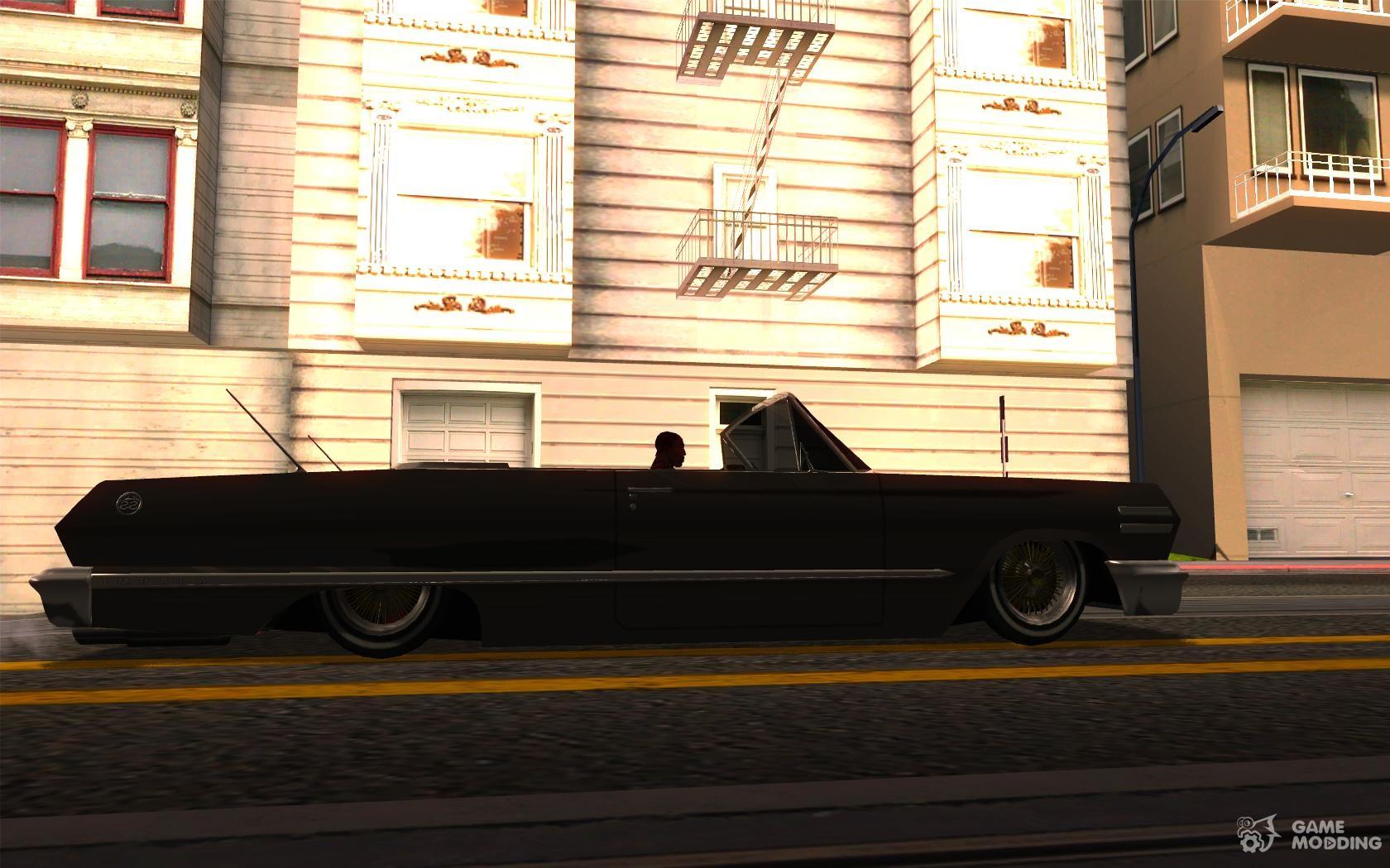 Chevrolet impala 4 door hardtop 1963 for gta san andreas - Chevrolet Impala 1963 Lowrider For Gta San Andreas Inside View
