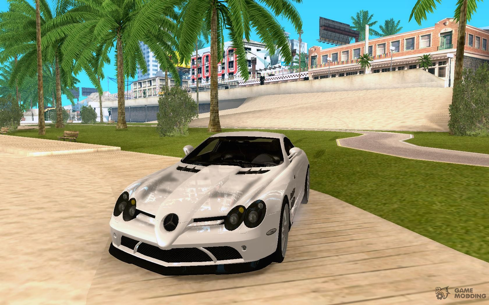 Mercedes Benz Slr Mclaren 722 Black Revel For Gta San Andreas