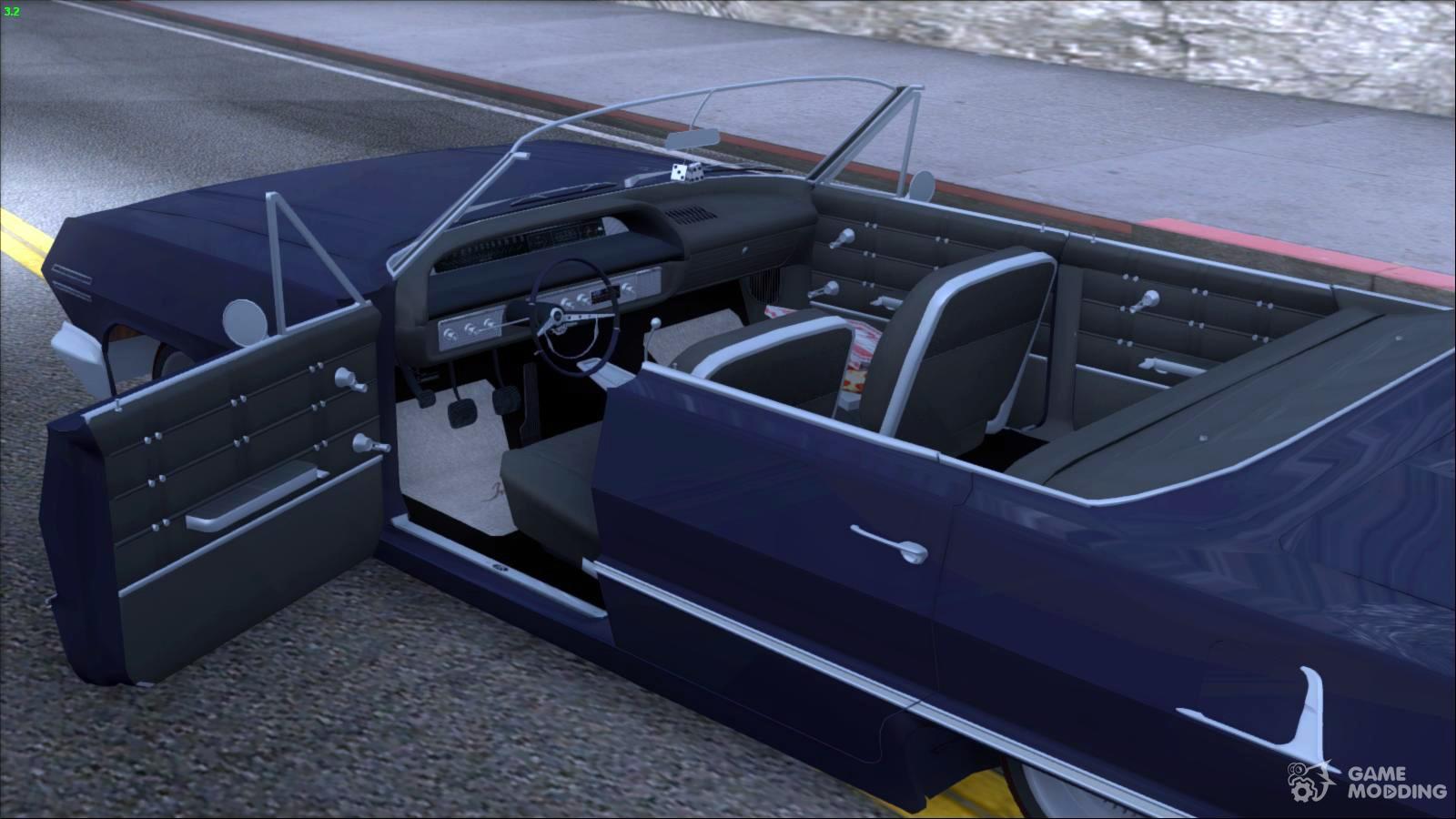 Chevrolet impala 4 door hardtop 1963 for gta san andreas - Chevrolet Impala 1963 For Gta San Andreas Inside View
