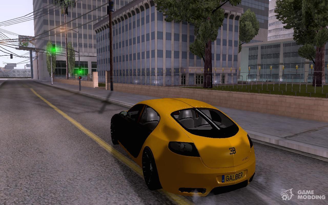 Bugatti Galibier 16c For GTA San Andreas Rear Left View