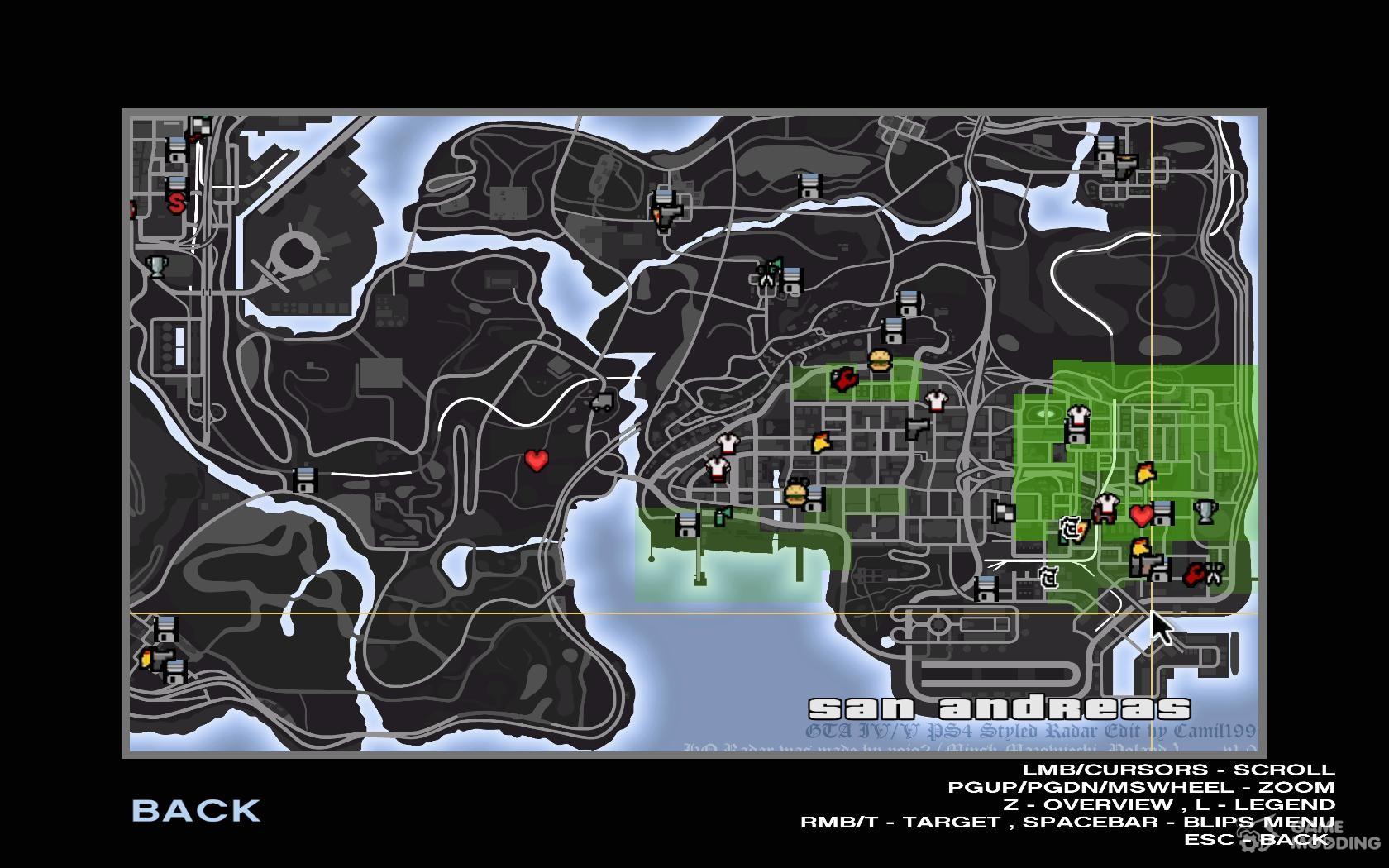 V Styled Radar V2 for GTA San Andreas on