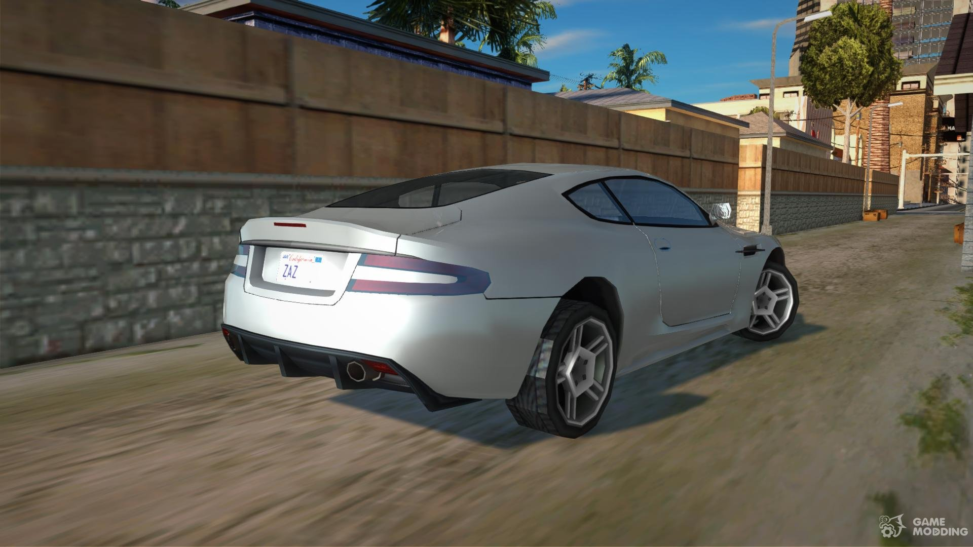Aston Martin DB9 SA Style (Low Poly) for GTA San Andreas