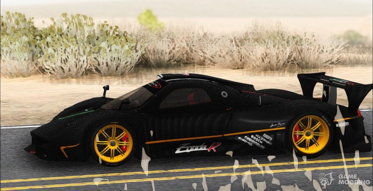 Delicieux Pagani Zonda R 2009 (HQ) For GTA San Andreas