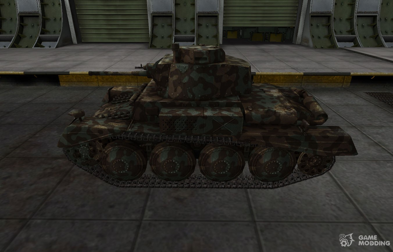 Mountain camouflage for PzKpfw 38 n A  for World Of Tanks
