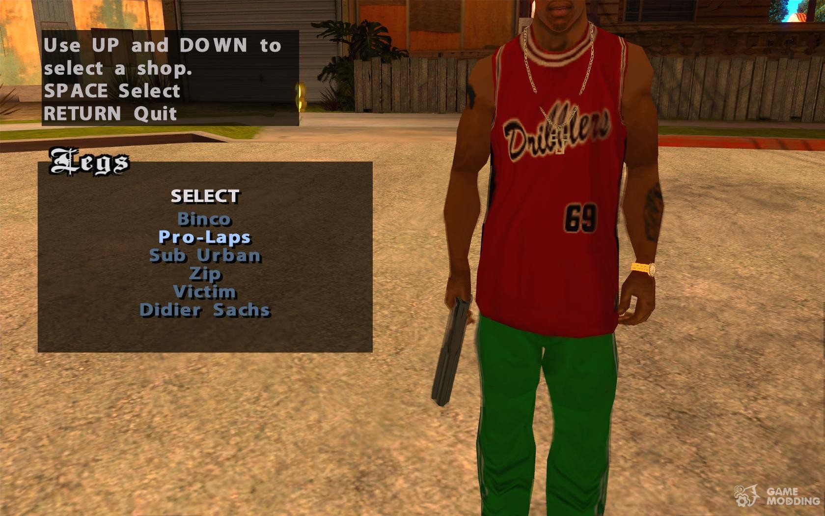 Change of clothes, tattoos and hairstyles for GTA San Andreas
