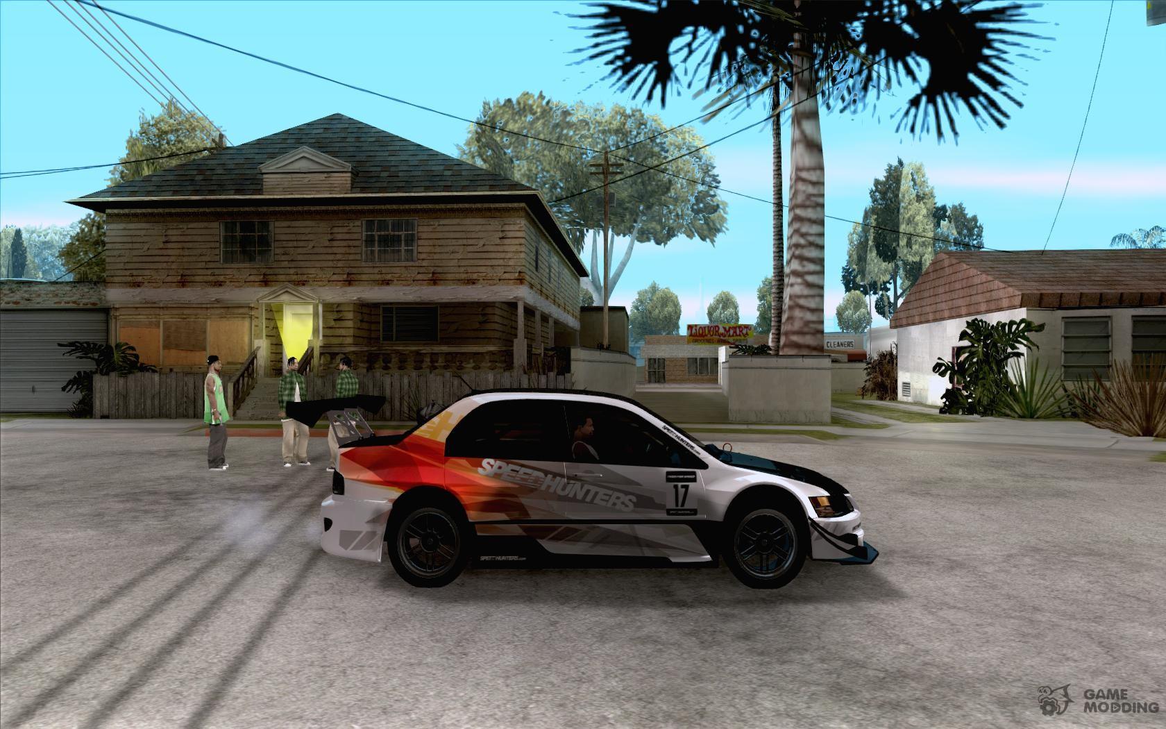 Mitsubishi lancer evo ix speedhunters edition for gta san andreas inside view