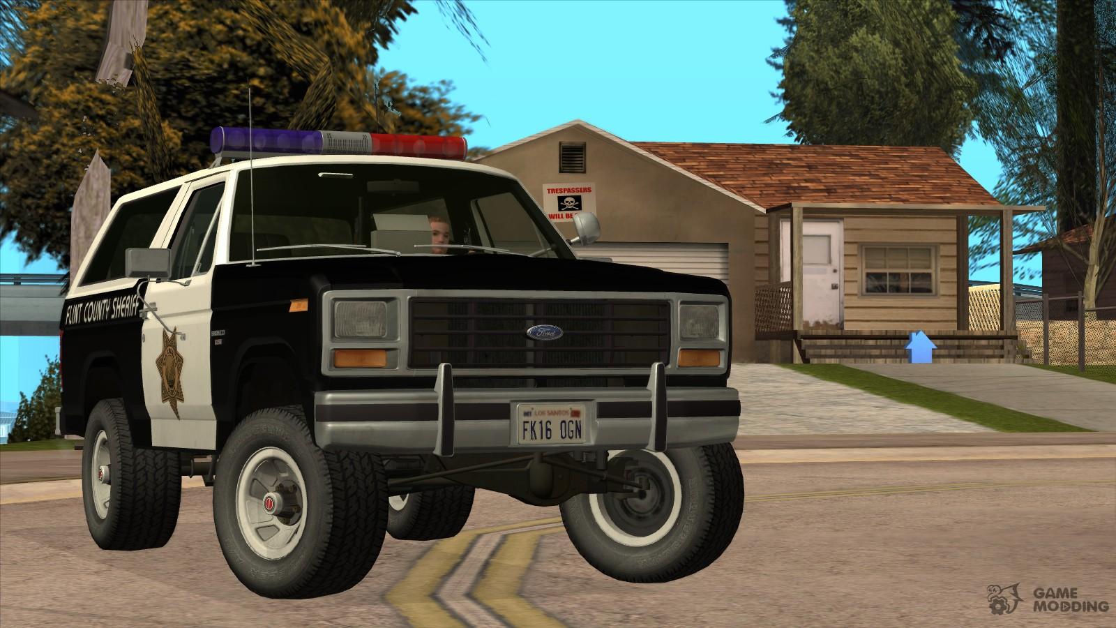 1982 Ford Bronco Police For GTA San Andreas