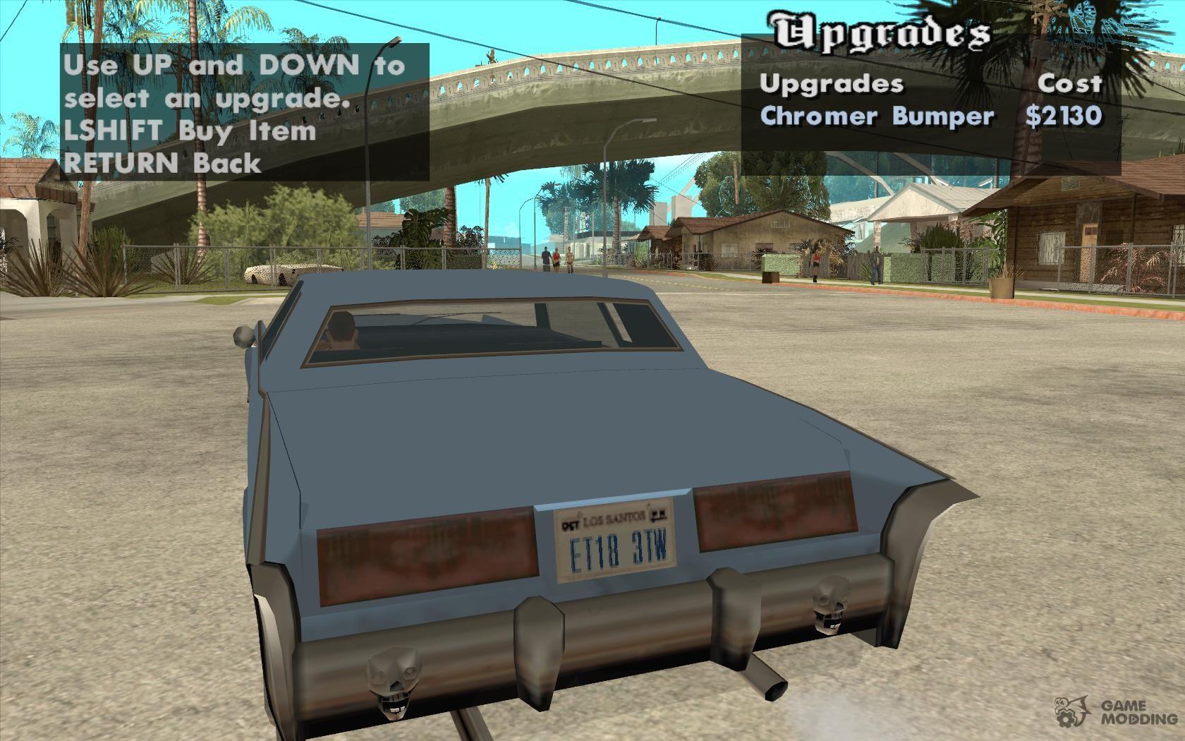 Tuning car anywhere for GTA San Andreas