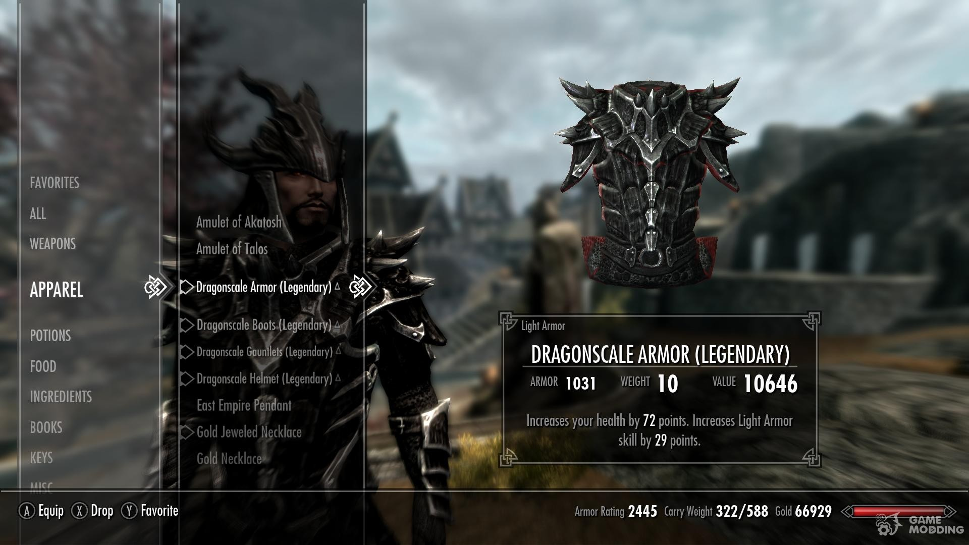 how to set inventory weight in skyrim