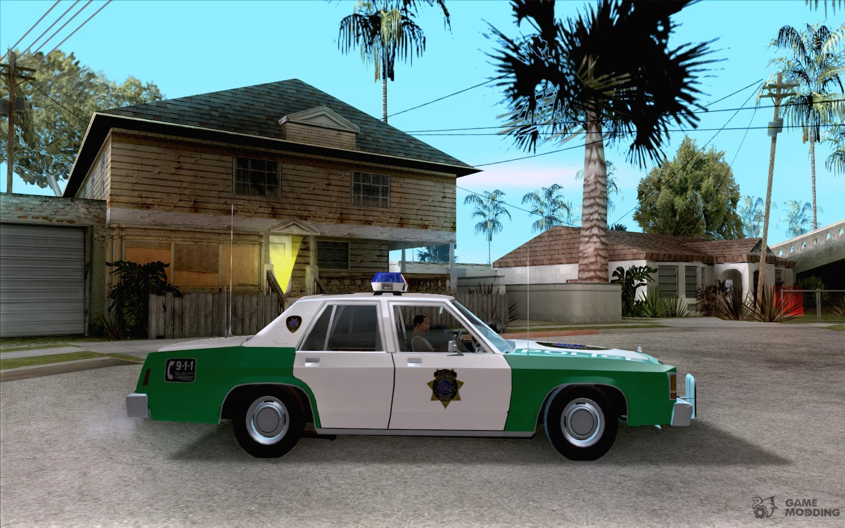 Ford ltd crown victoria interceptor lapd 1985 for gta san andreas inside view