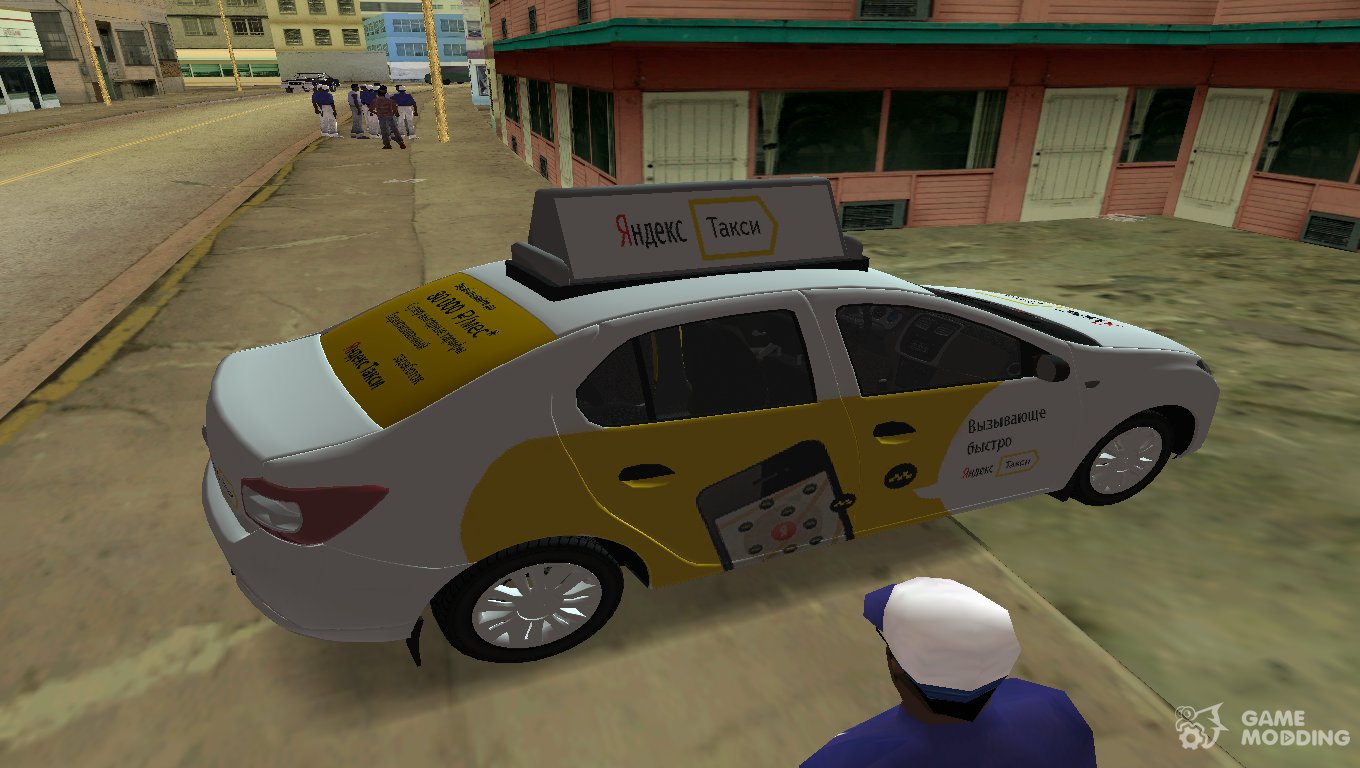 Renault Logan 2015 Yandex Taxi for GTA Vice City