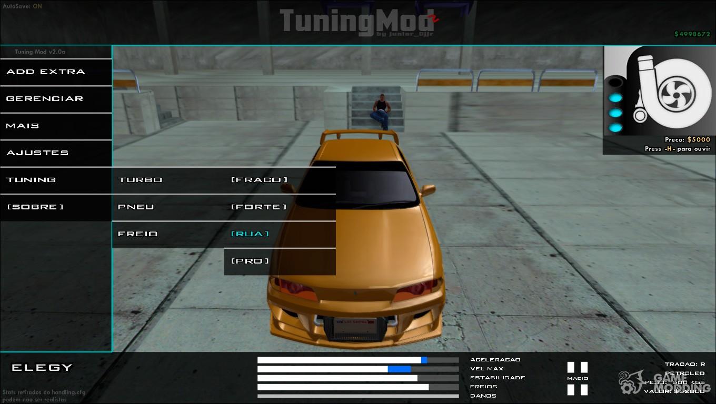 Tuning Mod v2 1 1 RC1 for GTA San Andreas
