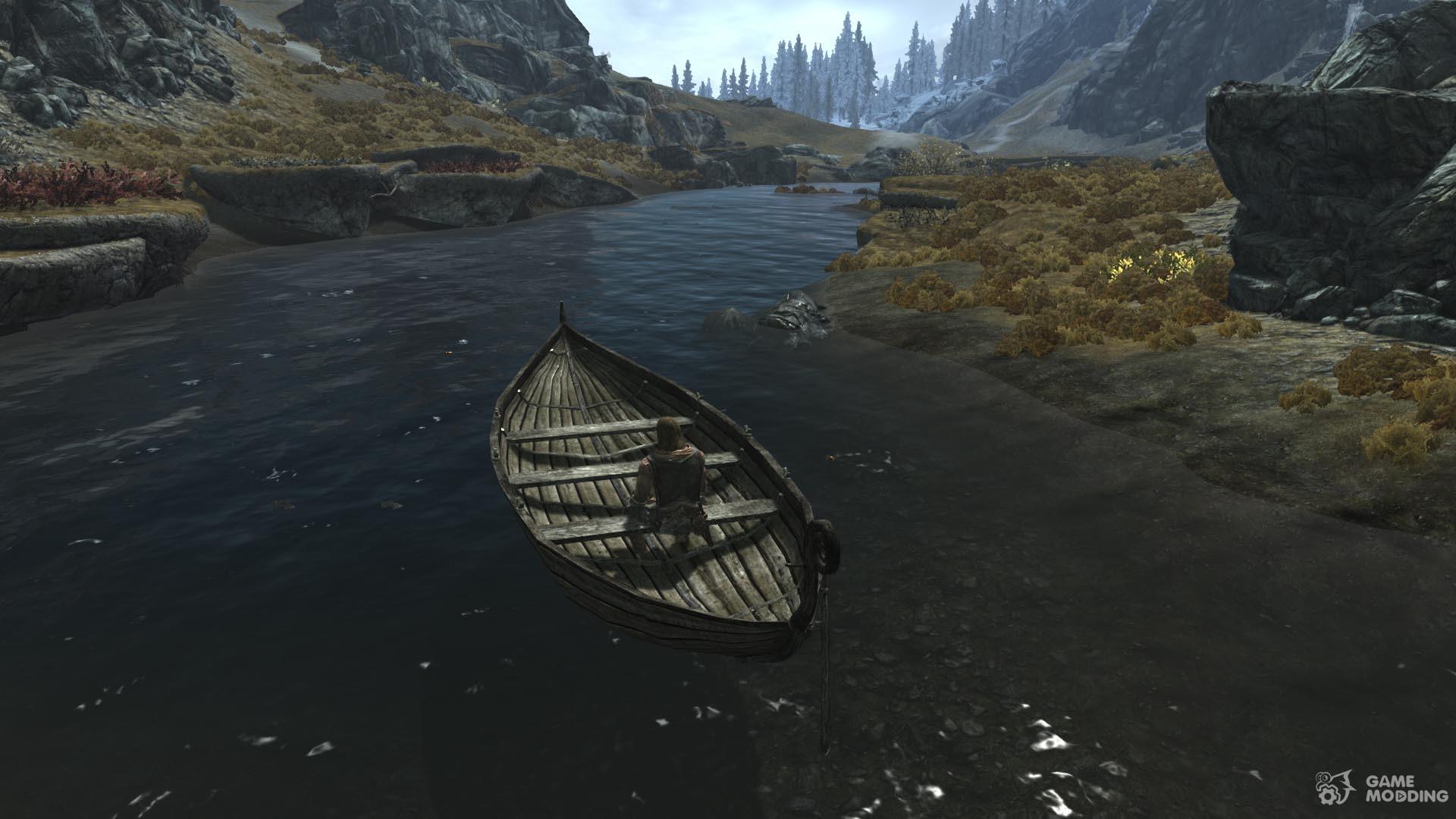 skyrim мод на плавающие лодки