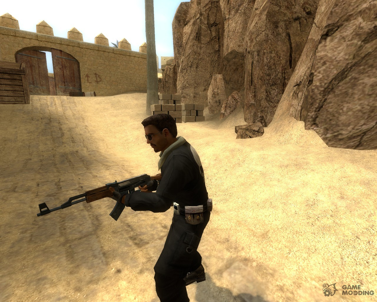 black l33t w punisher logo for counterstrike source