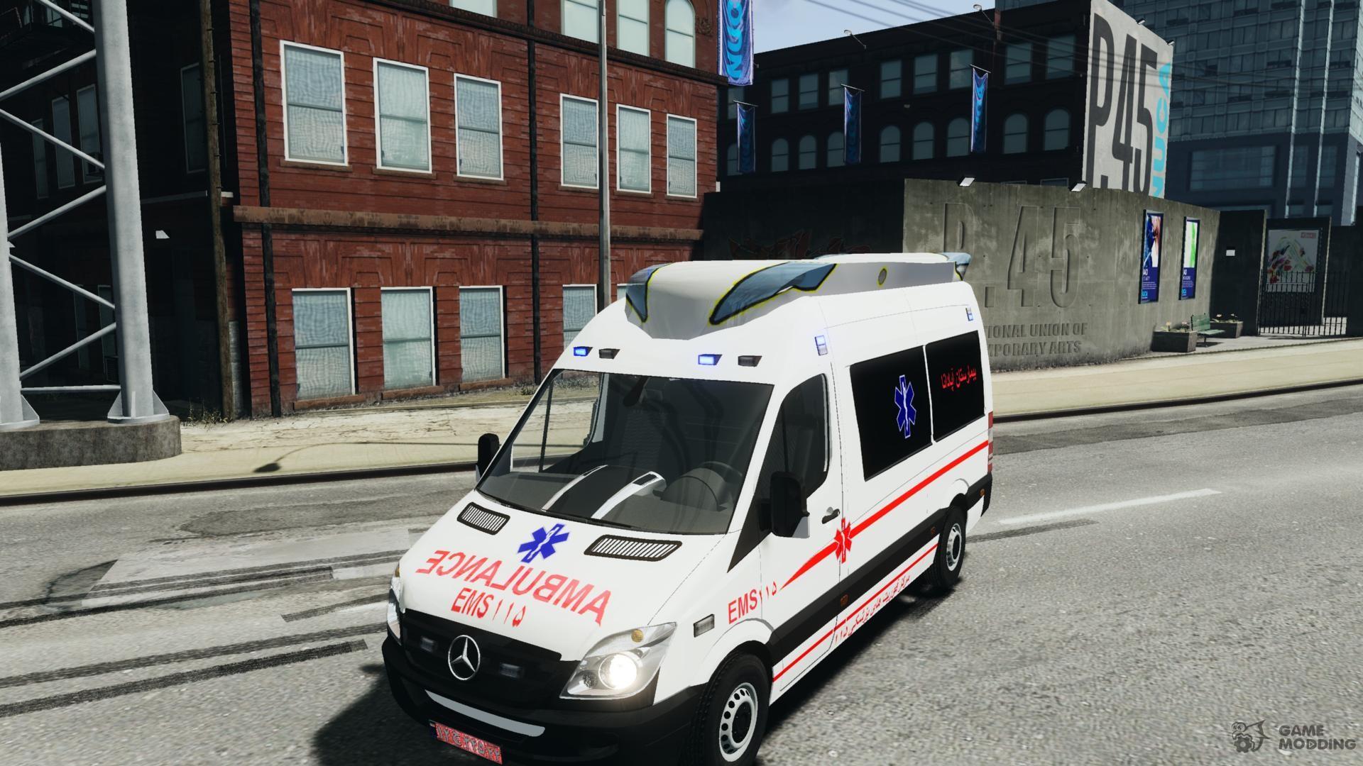 Mercedes-Benz Sprinter Iranian Ambulance for GTA 4