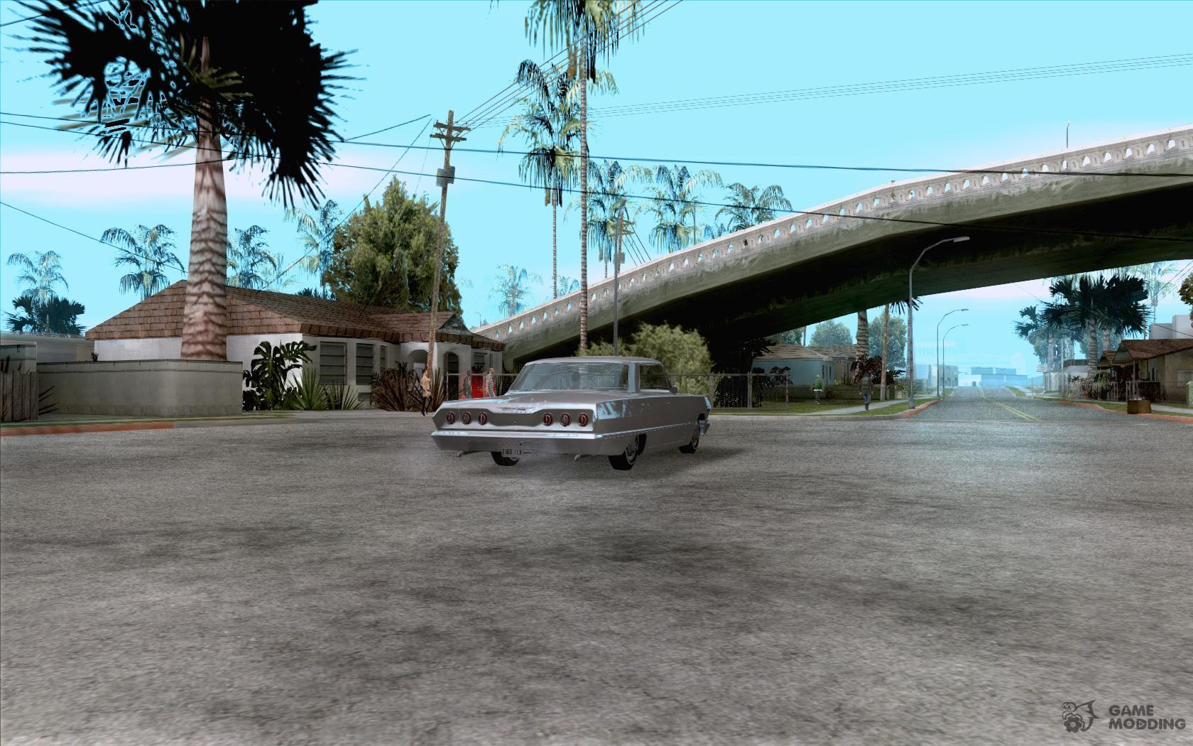 Chevrolet impala 4 door hardtop 1963 for gta san andreas - Chevrolet Impala 4 Door Hardtop 1963 For Gta San Andreas Top View