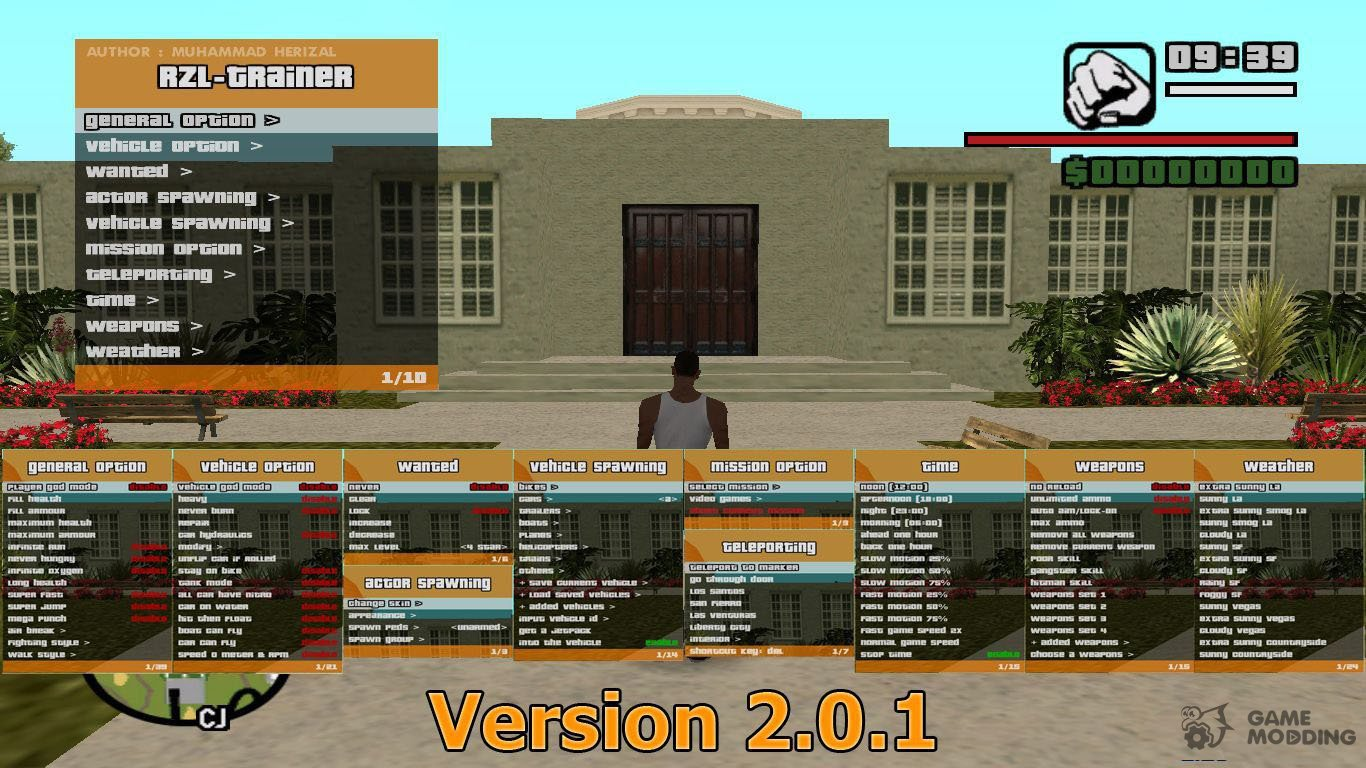 RZL-Trainer v2 0 1  Convenient cheat menu like in GTA 5 for