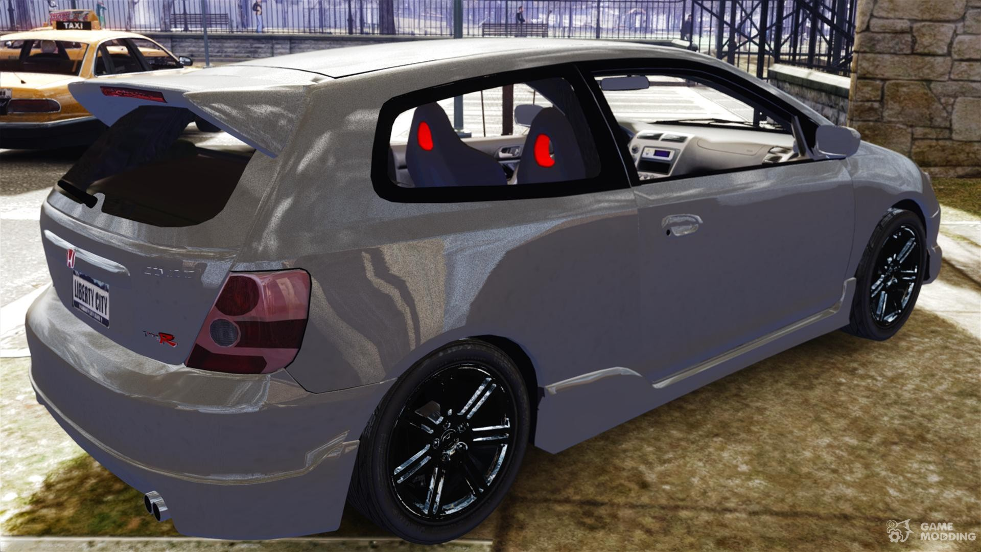 Honda civic type r 2002 for gta 4 inside view