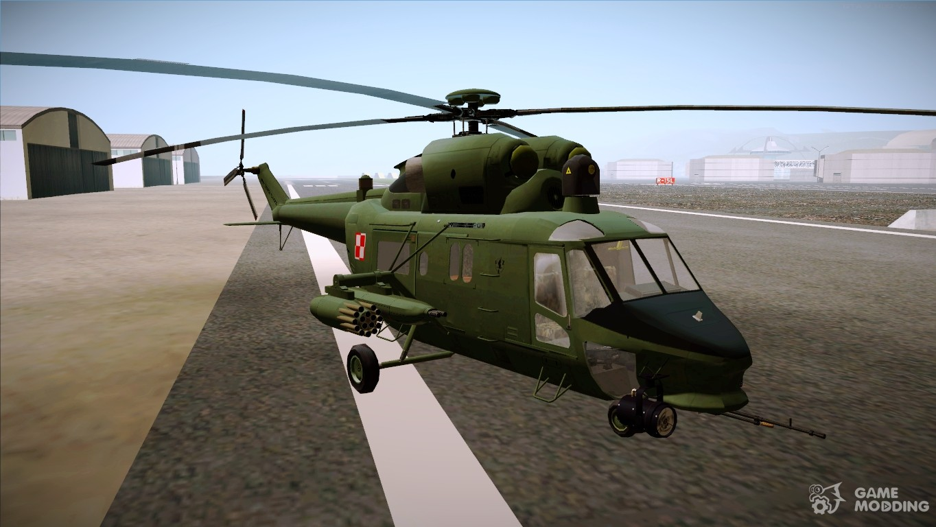 pzl w3pl for gta san andreas - Helicopter Mod