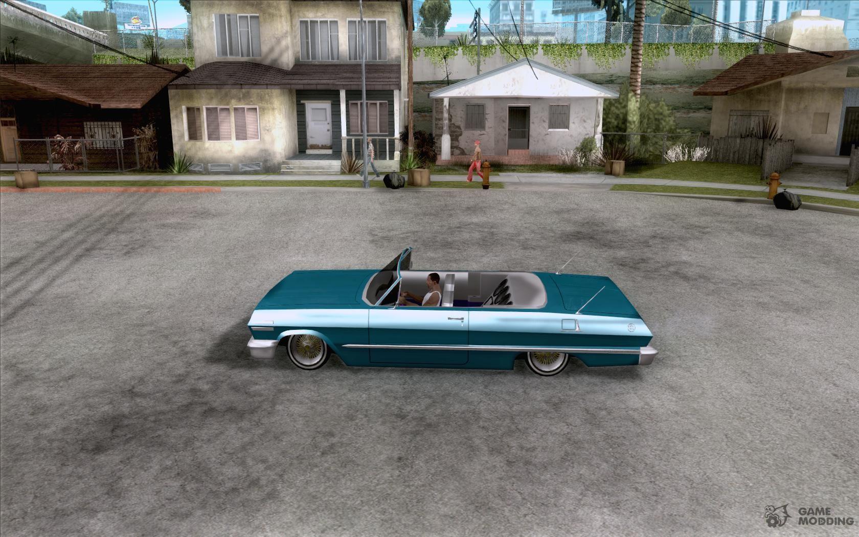 Chevrolet impala 4 door hardtop 1963 for gta san andreas - Chevrolet Impala Hardtop 1963 For Gta San Andreas Left View
