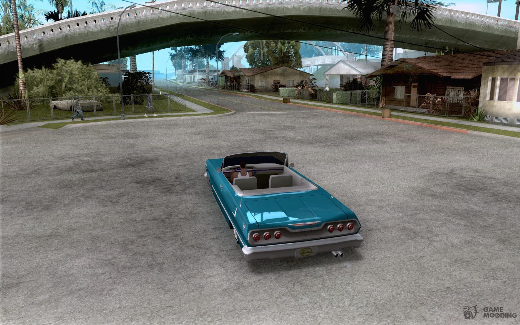 Chevrolet impala 4 door hardtop 1963 for gta san andreas - Chevrolet Impala Hardtop 1963 For Gta San Andreas Rear Left View