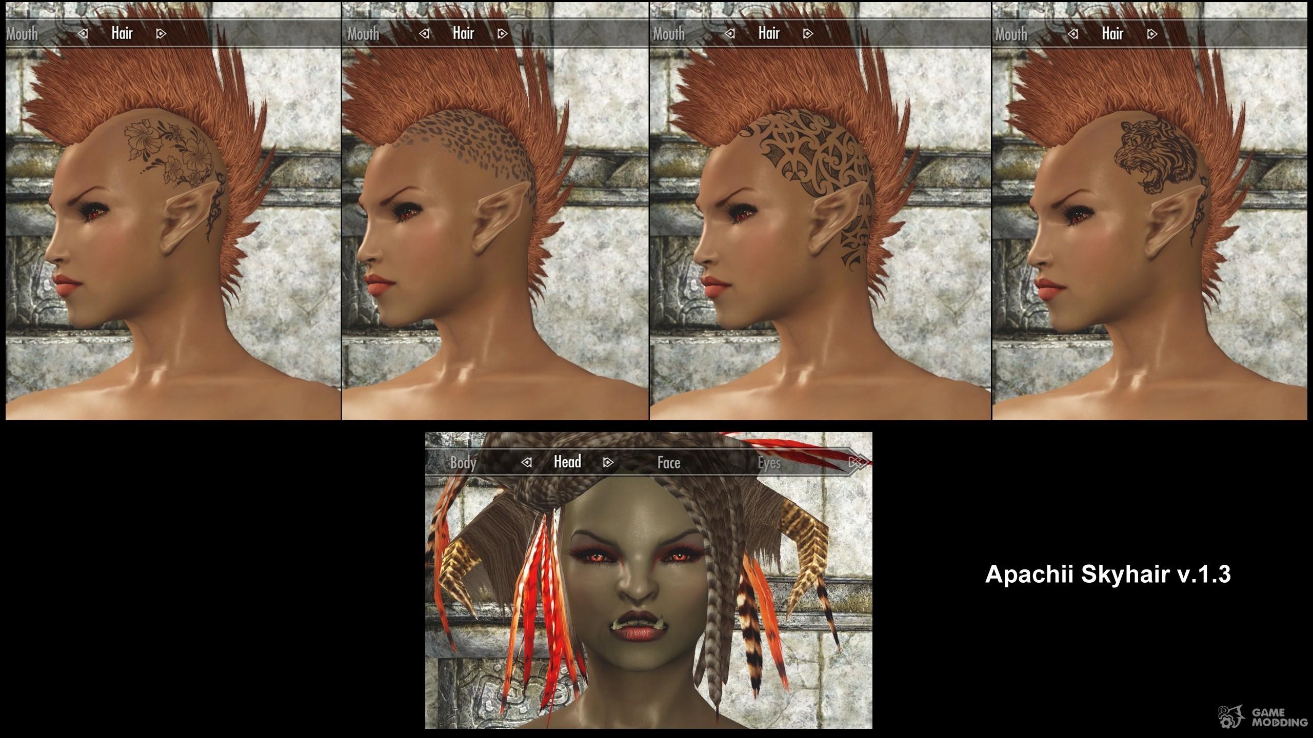 ApachiiSkyHair v1 5 for TES V: Skyrim