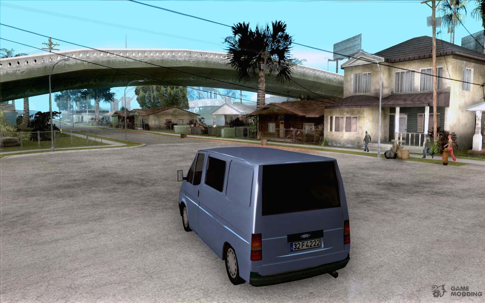 Ford transit 1999 for gta san andreas rear left view